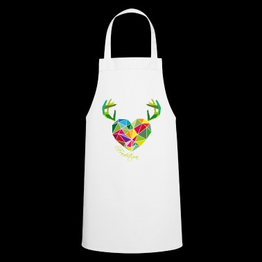 Poly heart with antlers | tradition - Cooking Apron