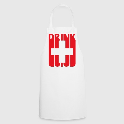 Swiss Flag Drink. Switzerland.Gifts love drink. - Cooking Apron