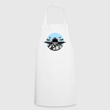 Jet Pilot / Kampfpilot 01_black white - Cooking Apron