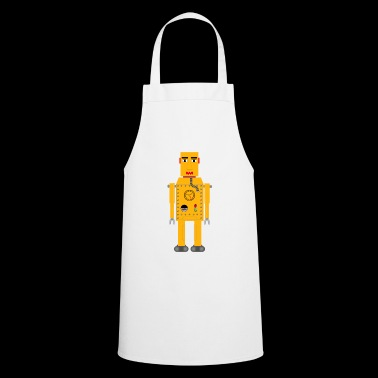 Robot yellow vintage - Cooking Apron