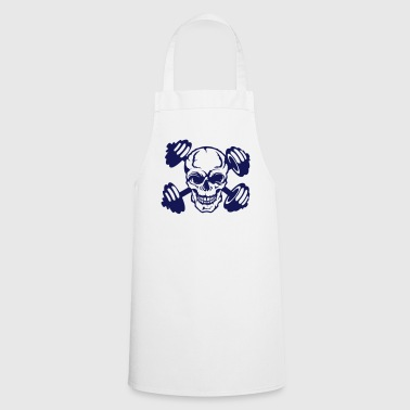 skull dumbbell bodybuilding 856 - Cooking Apron