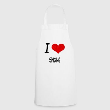 I Love Hobby Present bday SINGING - Cooking Apron