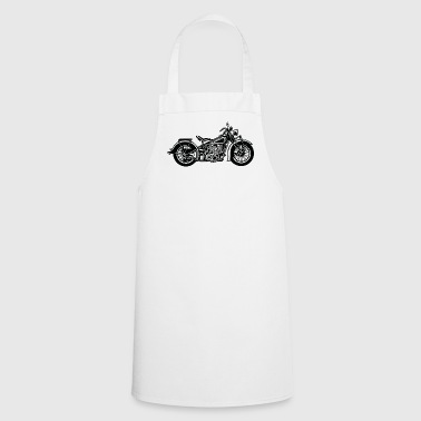 Chopper / Bobber Motorcycle 03_black - Cooking Apron