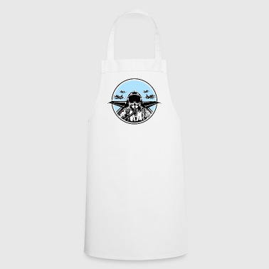 Jet Pilot / Fighter Pilot 01_white Black - Cooking Apron