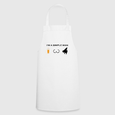simple man boobs beer beer tits piano piano pn - Cooking Apron