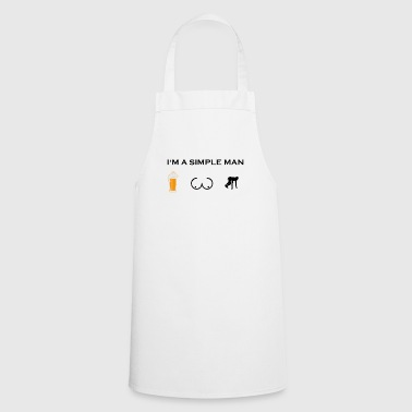 simple man boobs beer beer tits running race m - Cooking Apron