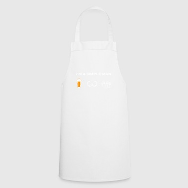 simple man like boobs beer beer tits bowling bow - Cooking Apron