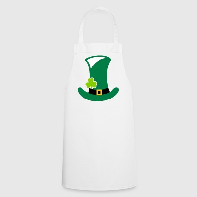 Green Hat Clover Leaf Gift St. Patrick's Day - Cooking Apron