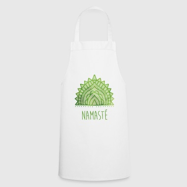 Yoga Namaste lettering symbol green - Cooking Apron