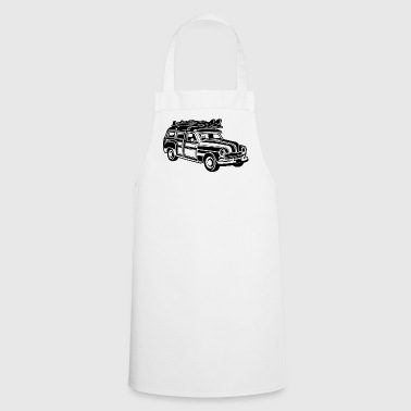 Chevy Cadilac Woodie / Vintage Kombi 01_black - Cooking Apron