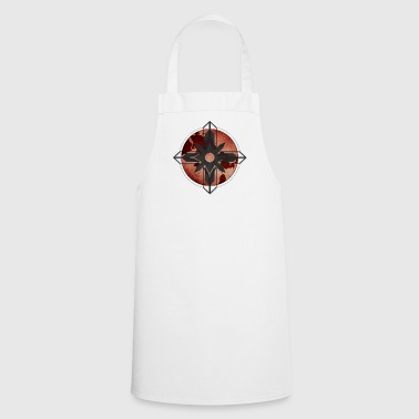 Map Compass - Red - Cooking Apron