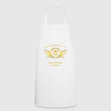 NEVER UNDERESTIMATE GIRL WIFE WOMAN RAPPER - Cooking Apron