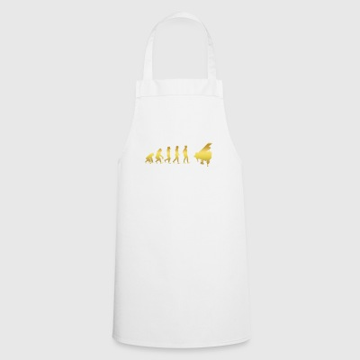 evolution human ekg heartbeat piano piano - Cooking Apron