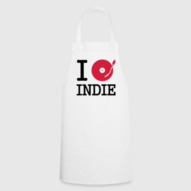 I dj / play / listen to indie - Cooking Apron