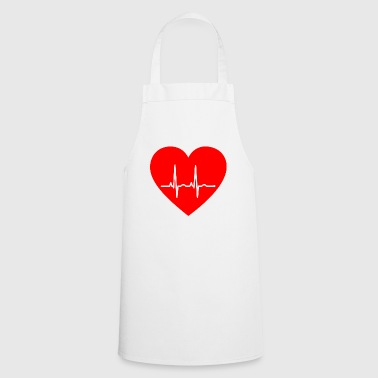 ECG heart - Cooking Apron