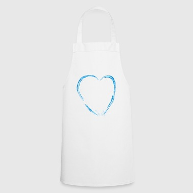 Ice blue heart and a girl ice dance figure run - Cooking Apron