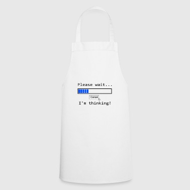 Nerd Pc T-shirt thinking screen demolition - Cooking Apron