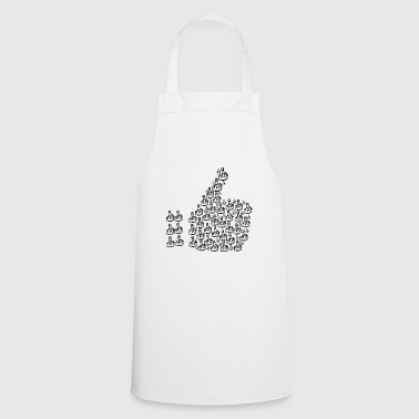 Like sign with middle finger / T-shirt - Cooking Apron