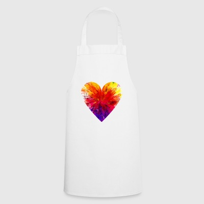 Heart colorful - Cooking Apron
