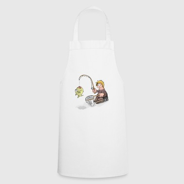 Angler with catch (comic style) - Cooking Apron