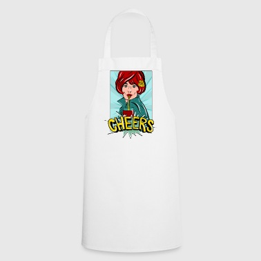 Cheers popart - Cooking Apron