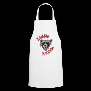 Funny cute scary zombie raccoon Red Edit - Cooking Apron
