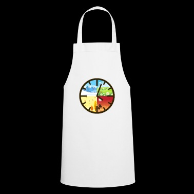 Four 4 seasons clock gift nature - Cooking Apron