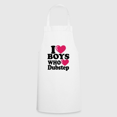 i heart boys dubstep - Tablier de cuisine