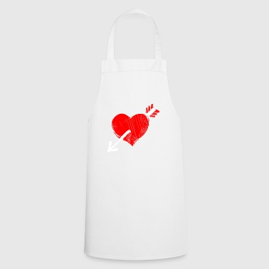 Heart Arrow Love Love Gift Heart Loving Couple - Cooking Apron