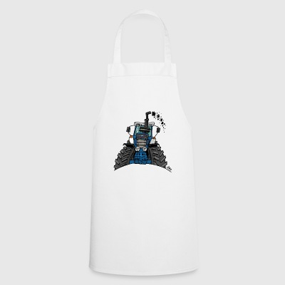 0538 blue tractor - Cooking Apron