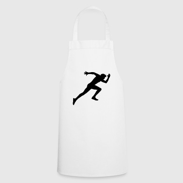 Runner, sports, racing sprint, - Cooking Apron