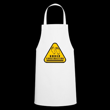 UNDER CONSTRUCTION Pregnant baby baby abdomen mother - Cooking Apron