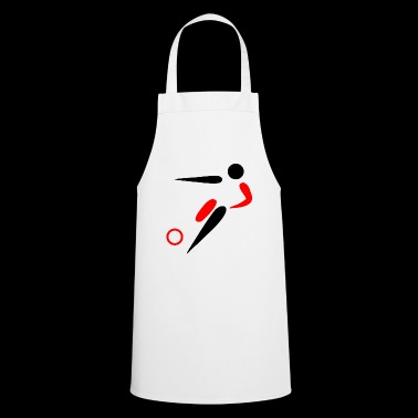 Soccer kicker / logo - Cooking Apron