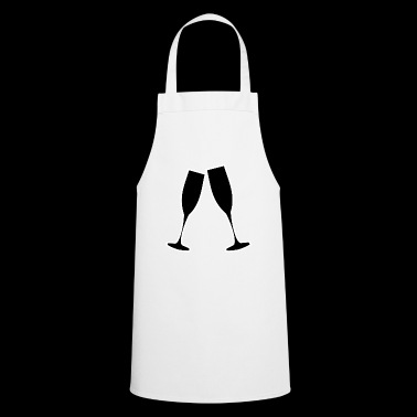 Champagne glasses for parties, farewells, New Year's Eve - Cooking Apron