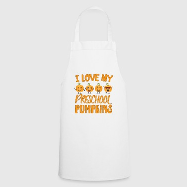 Happy Halloween preschool pumpkin teacher gift - Cooking Apron