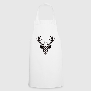 Reindeer Head Reindeer Deer Knit Christmas - Cooking Apron