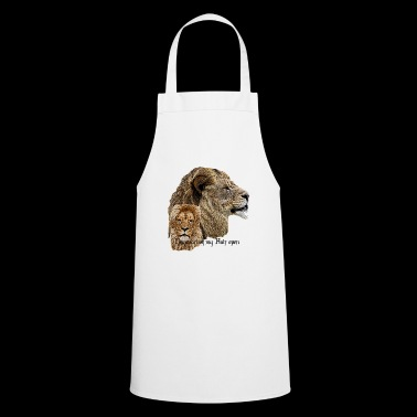 Lion, Long Hair, Cat, Big Cat, Lion, Fun, Fun, - Cooking Apron