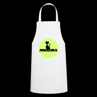Angelika Name Tag Babyparty gift cat motif - Cooking Apron