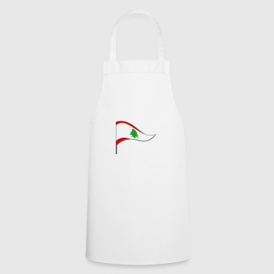 Lebanon Beirut Asia Flag Flag Country color Arab - Cooking Apron