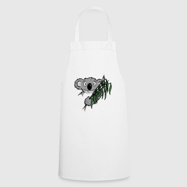 Koala with ostrich eucalyptus flowers funny gift - Cooking Apron