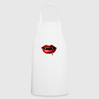 Halloween sexy mouth vampire blood drop Red - Cooking Apron