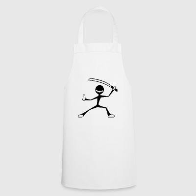 Ninja with sword fighting art style cool gift - Cooking Apron