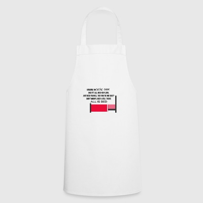 Imagine an entire room without bed and floor - Cooking Apron