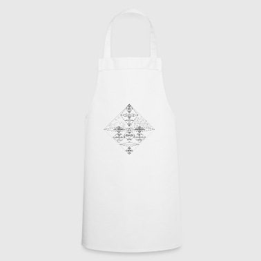 Wisp faces on faces in black and white - Cooking Apron