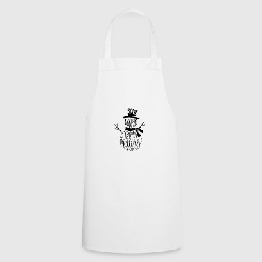 Winter christmas snowman cold frost snow - Cooking Apron