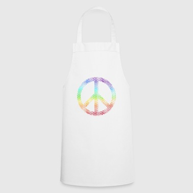 Peace Sign Peace Demo Flower Power Letter - Cooking Apron