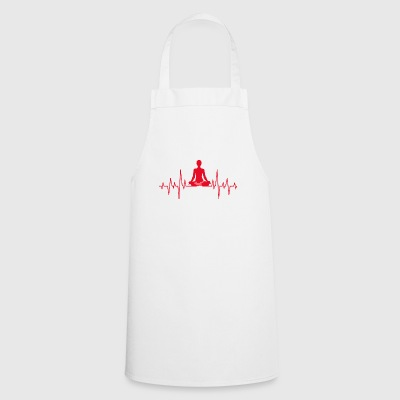 Yoga Meditation meditating a gift heartbeat - Cooking Apron