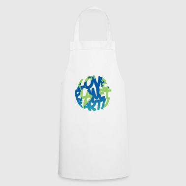 LOVE Planet Earth (Vivid) - Cooking Apron