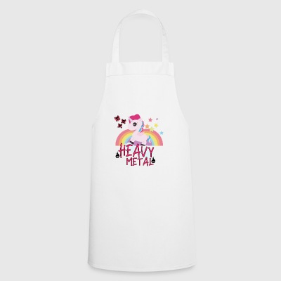 Heavy Metal Unicorn Gift Glitter Horses - Cooking Apron