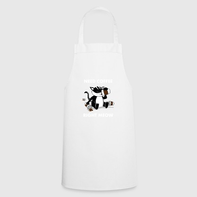 Coffeejunkie Cat Coffee Junkie Cat Coffe Junkie - Cooking Apron